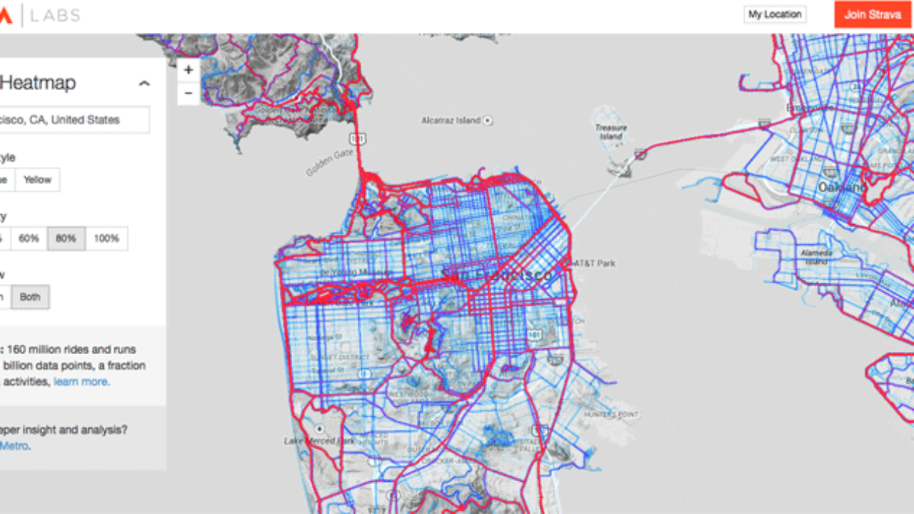 Creating a Global Heat Map from 41 5 Million Runs ~ GIS Lounge