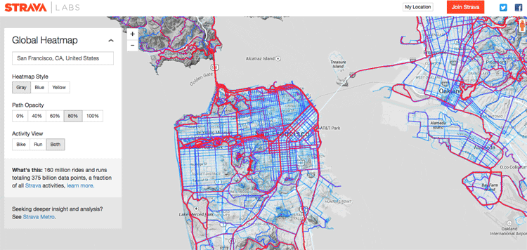 Creating A Global Heat Map From Million Runs GIS Lounge - Map my bike