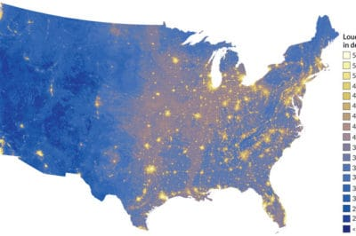 Where is it the loudest in the United States? Noise map by the National Park Service.