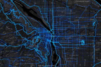 Strava has captured over 400,000 bike trips a year in Oregon.