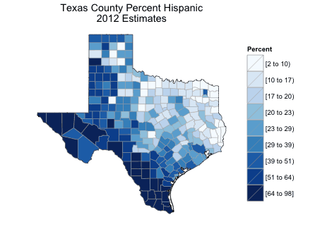 Free email course learn to map census data in r gis lounge demographic map of texas created using r source lamstein sciox Images
