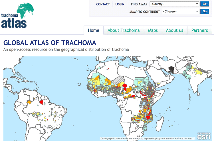 Global trachoma mapping project gis lounge trachoma mapping sciox Images