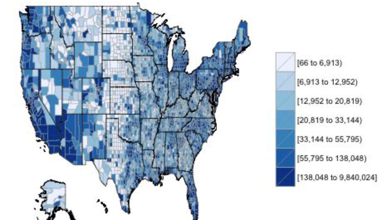 Mapping County Demographic Data in R ~ GIS Lounge on