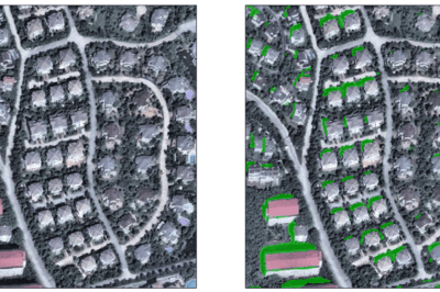 Orbital Insight uses shadows detected on satellite imagery to track construction rates in Nanjing, China.