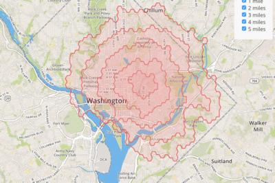 isodistance-mapbox