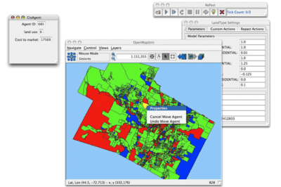 "Screenshot from ""How to use GIS data with Repast""."