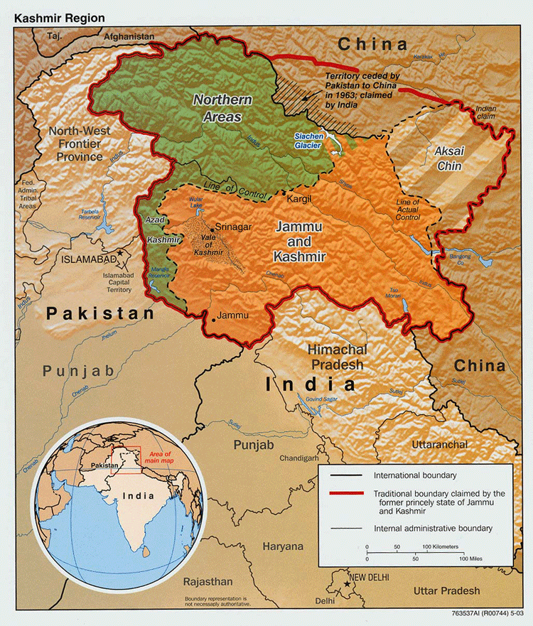 India preparing law to fine cartographers up to 15 million for the disputed area of kashmir central intelligence agency 2003 gumiabroncs Gallery