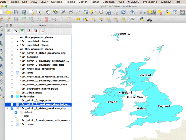 How to Convert a Selection into a New GIS Dataset Using QGIS
