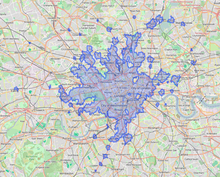 Using The Traveltime Search Api To Generate An Isochrone