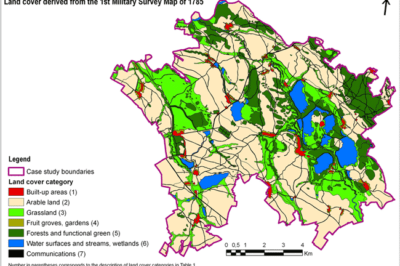 Land cover of the area under study in the 1st Military Survey map in the lowland area of Nové Dvory and Zehusice, Czech Republic. Source: Skaloš et al., 2011.