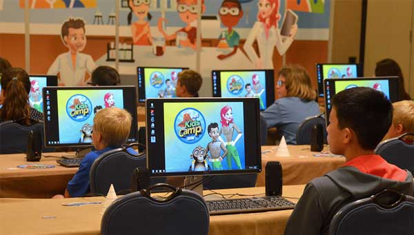 Children learning GIS as part of Esri's camp offered during the annual Esri User Conference in San Diego. Source: SDCC, July 2014.