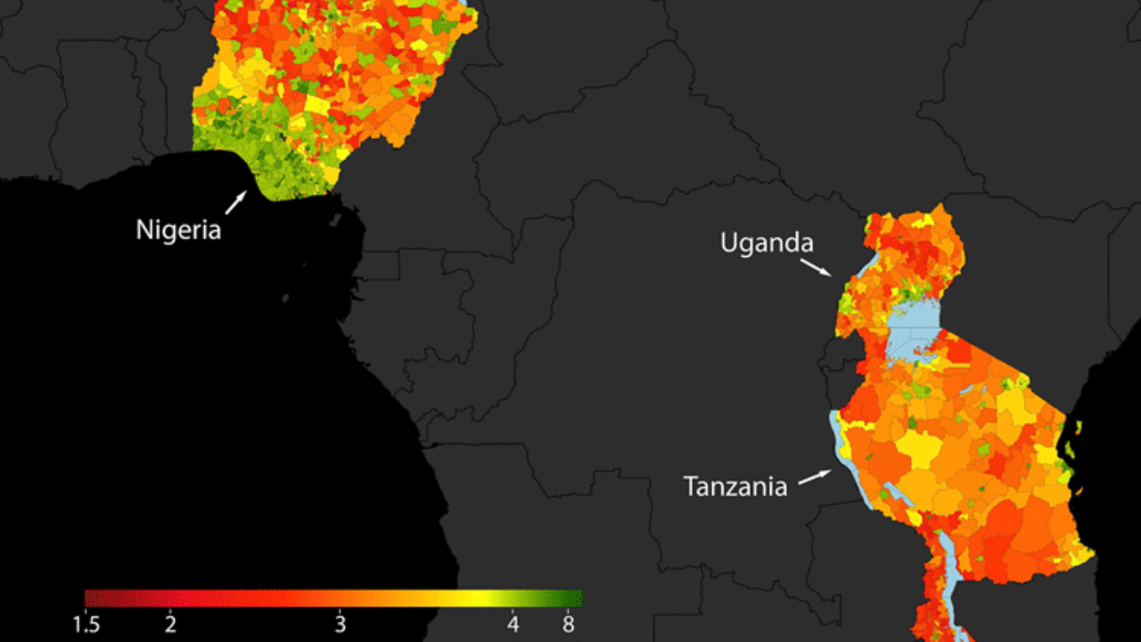 Using Machine Learning to Map Poverty from Satellite Imagery ... on world map nigeria africa, world map lagos africa, world map djibouti africa, world map swaziland africa, world map india africa, world map botswana africa, world map ethiopia africa, world map angola africa, world map kenya africa, world map ghana africa,