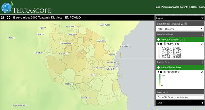 Screenshot of Terrascope.