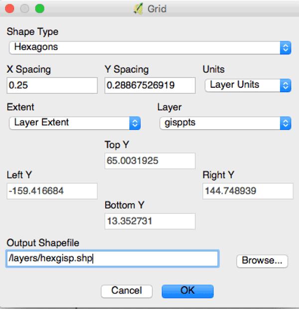 Using QGIS to Create a Hexbin Map of GISP Registrations ~ GIS Lounge