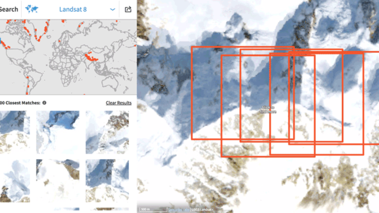 Using Visual Search to Find Geographically Similar Features on