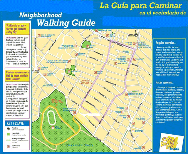 Walking map from: McNeill, L. H. (2012). GIS walking maps to promote physical activity in low-income public housing communities: a qualitative examination. Preventing chronic disease, 9.