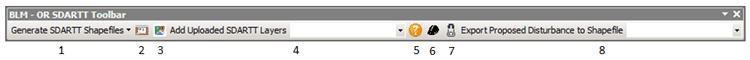The BLM – OR SDARTT Toolbar for ArcMap (Image Credit: Micah Babinski)