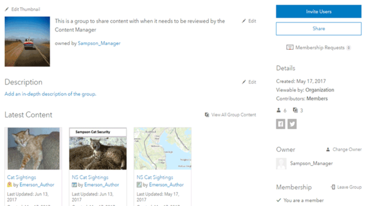 ArcGIS Online Brings in New Group Functions ~ GIS Lounge