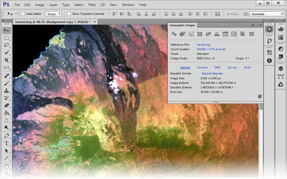 Download Avenza Geographic Imager for Photoshop