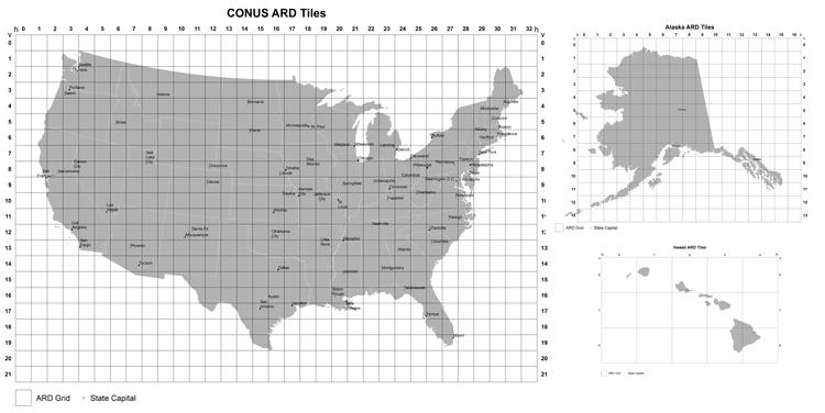 CONUS Landsat ARD Tile Maps.