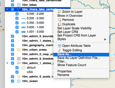 How to Save a Selection as a New File Using QGIS ~ GIS Lounge