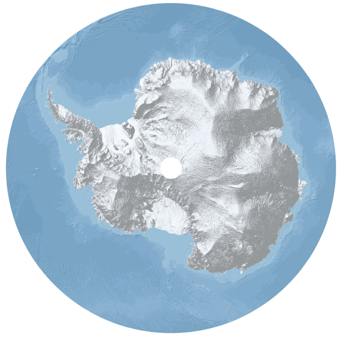 DEM of Antarctica. Source: CPOM