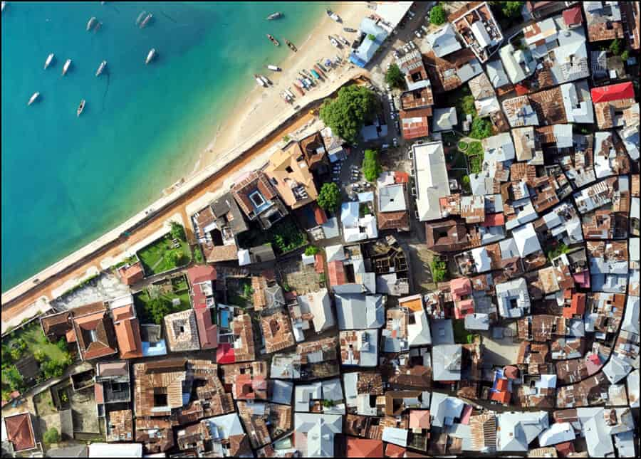 Historic Stone Town at 7 cm resolution. Flown by SUZA UAS program
