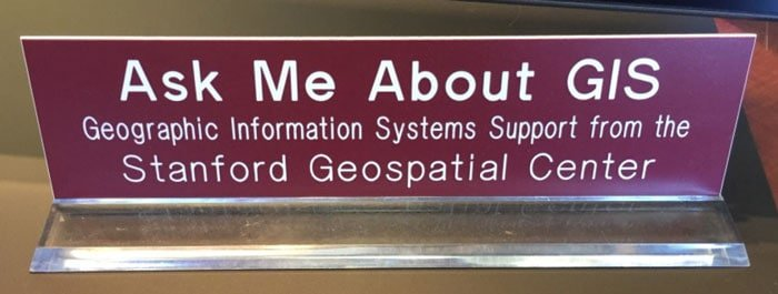 Stanford's Branner Library has dedicated GIS staff.  Photo: Caitlin Dempsey.