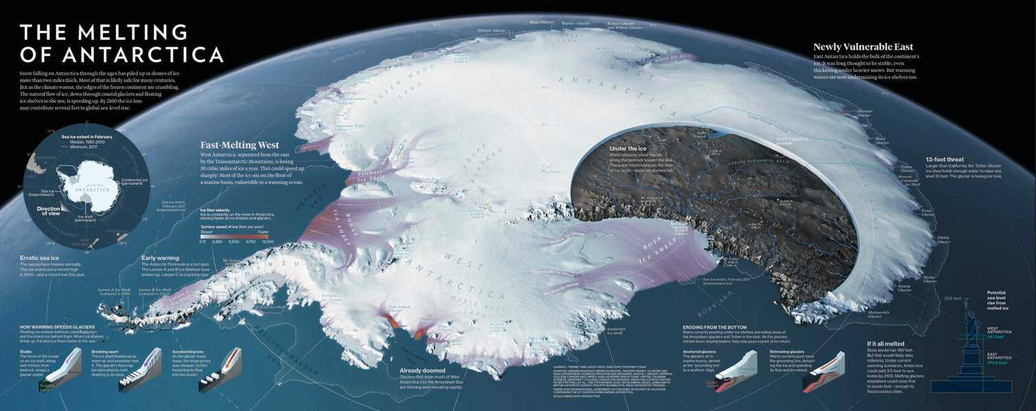 The Atlas of Design, Volume 4 will features 32 maps and illustrations including The Melting of Antarctica by Lauren Tierney, Jason Treat, and Stephen Tyson.