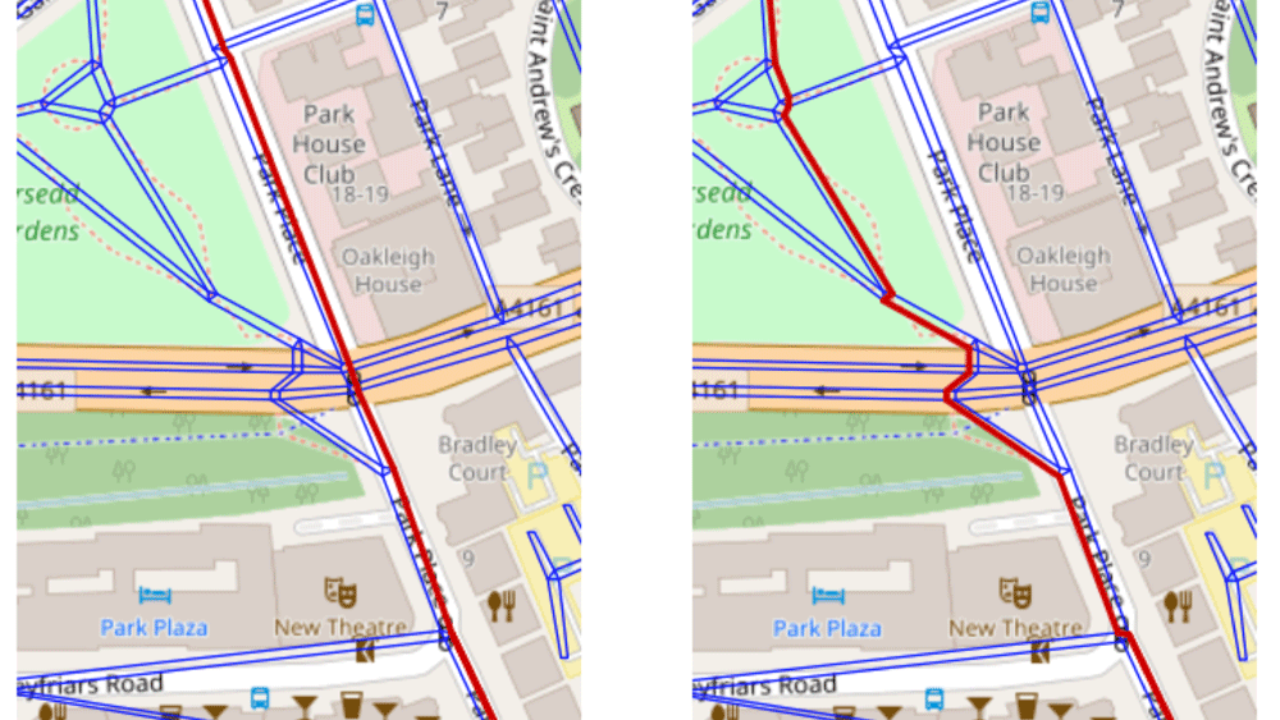 Mapping the Best Route for Pedestrian Safety ~ GIS Lounge
