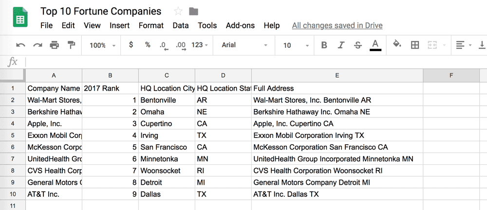 How to Populate a Cell with the ZIP Code Based on an Address in