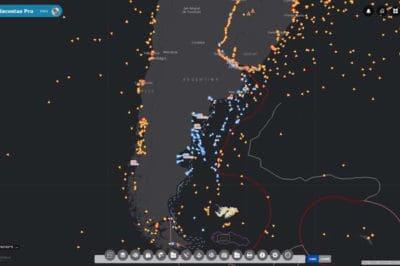 Screenshot from Guardacostas Pro.