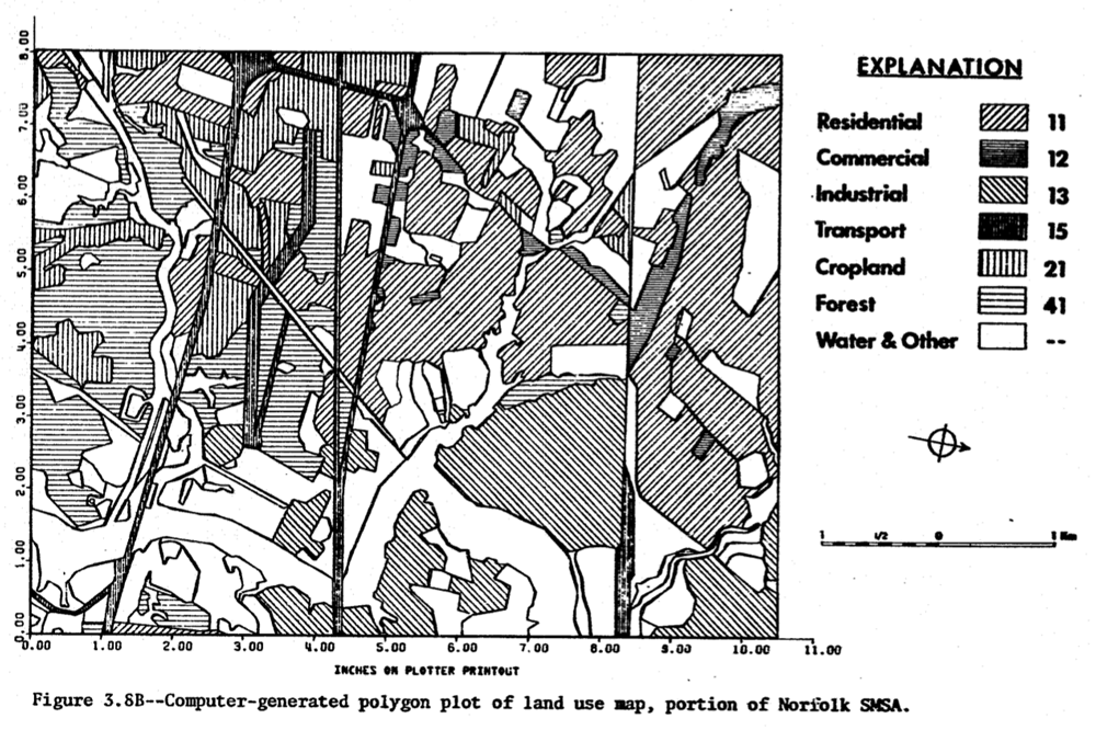 Land use map from CARETS Final Report, 1979.