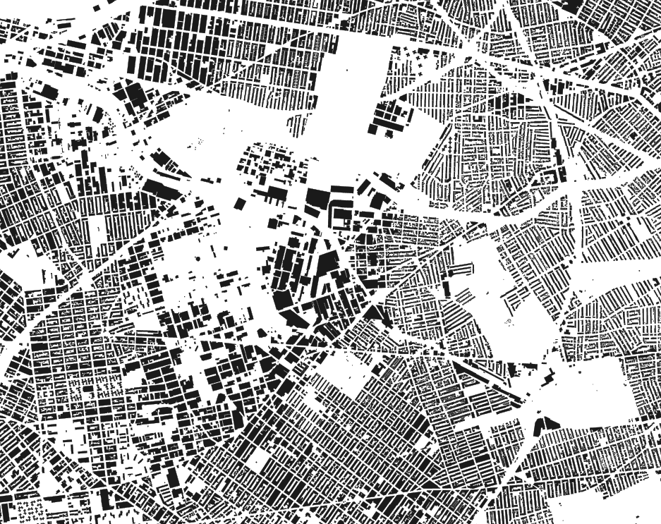 New York city building footprints.  Source: CARTO