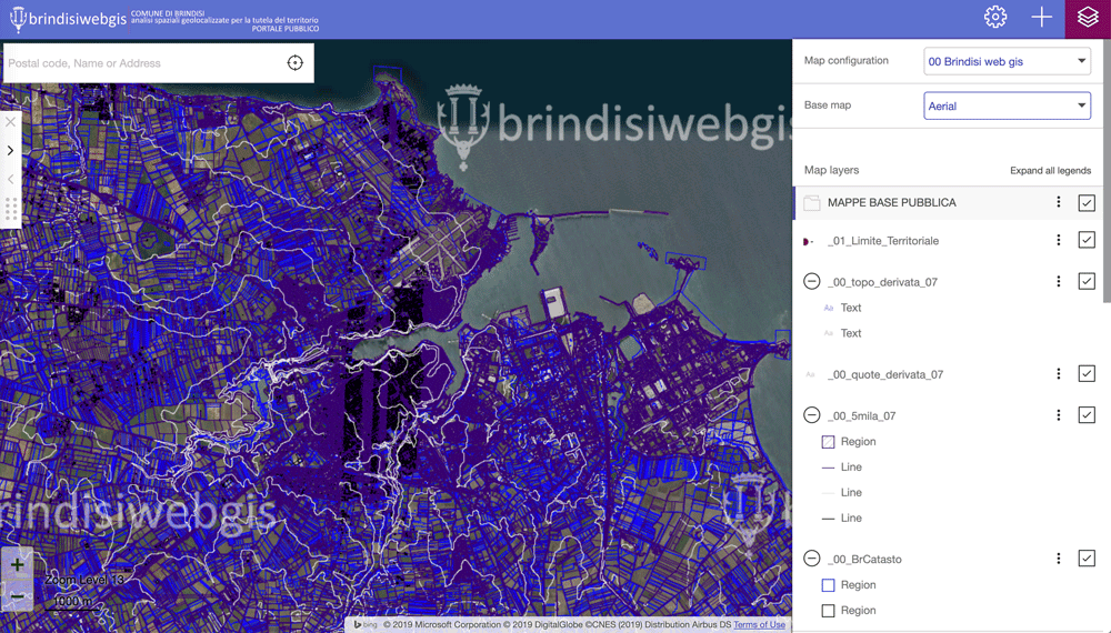 The Brindisi web mapping interface.