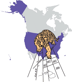 (USCB Logo for the United States Census Bureau's TIGER (Topologically Integrated Geographic Encoding and Referencing) map data format