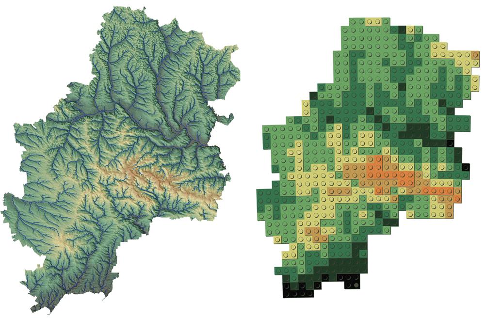 Map: Andriy Yaremenko, How to create Lego Map Style in QGIS