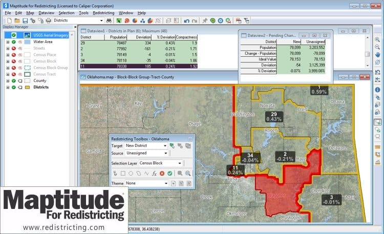 Oklahoma Senate Selects Maptitude for Redistricting