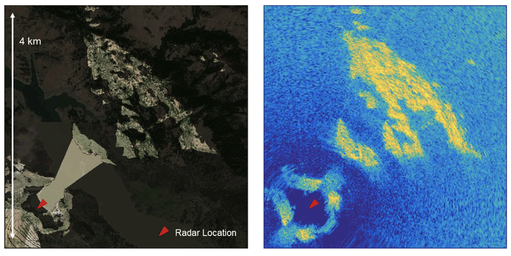 Test scene for CIRES InSAR capabilities at Anderson Dam in Northern California.  Image: ESTF presentation, 2019.