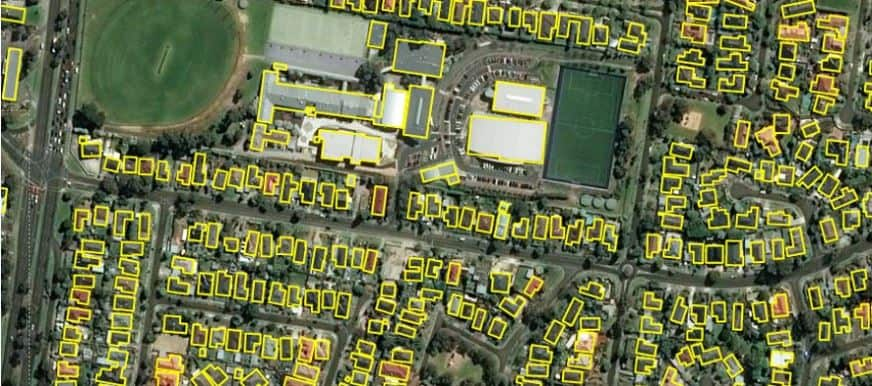 An example of the building footprints open data set for Australia. Source: Microsoft.