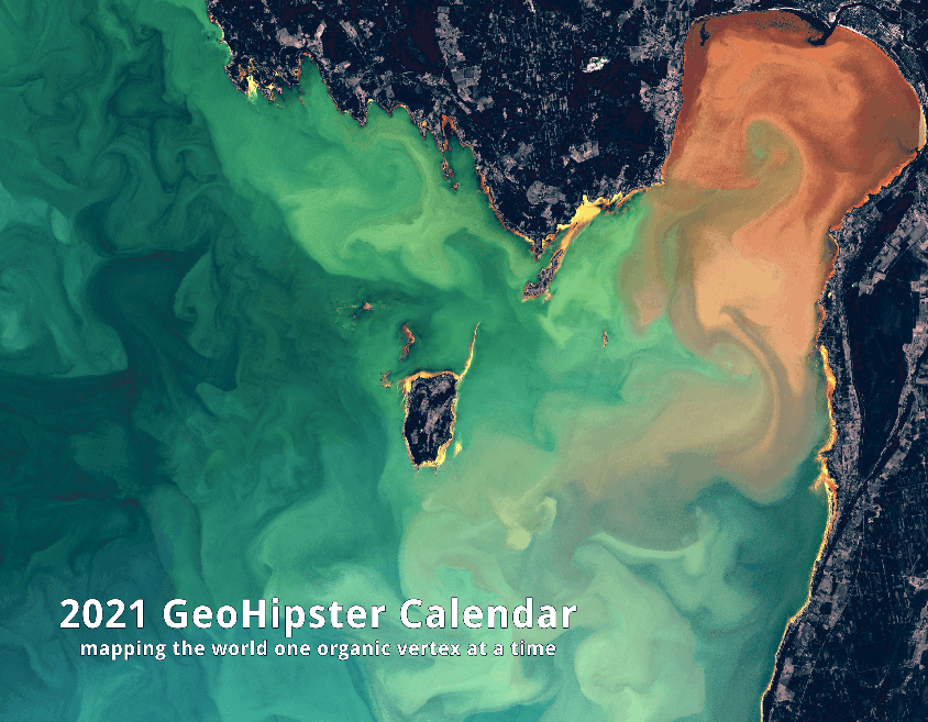 Cover for the 2021 GeoHipster Calendar