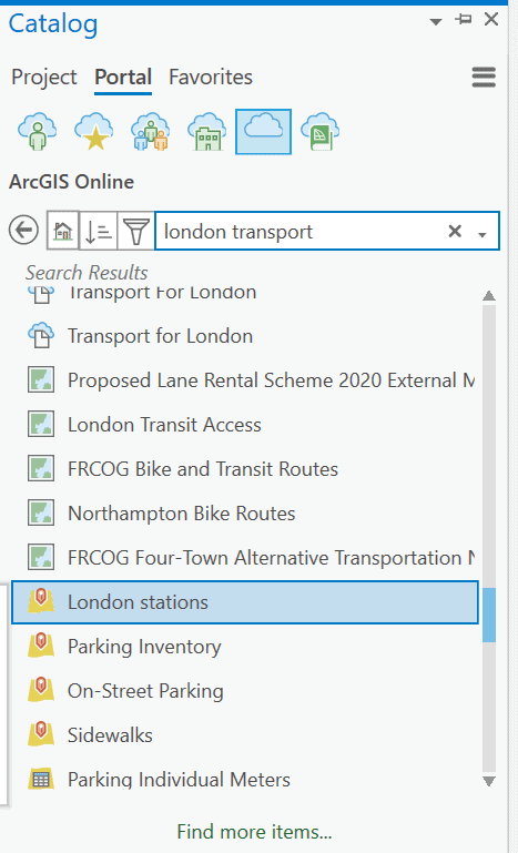 London stations GIS layer