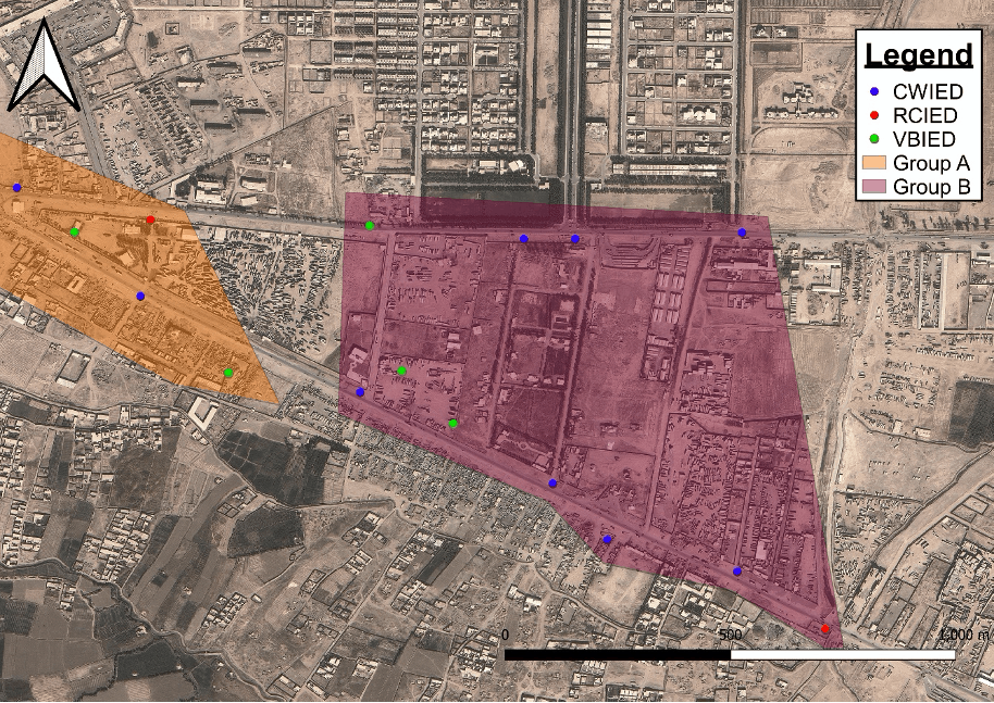 IED maps with theoretical territory overlays.  Map: Mike Roberts