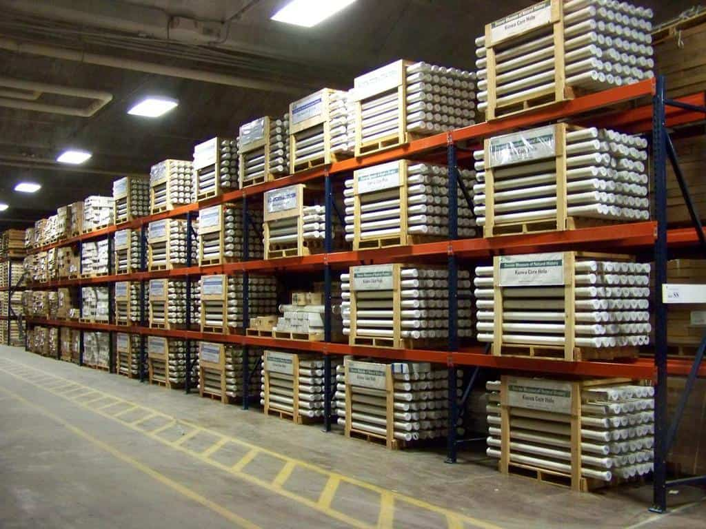 USGS Core Research Center warehouse.. Photo: USGS, public domain