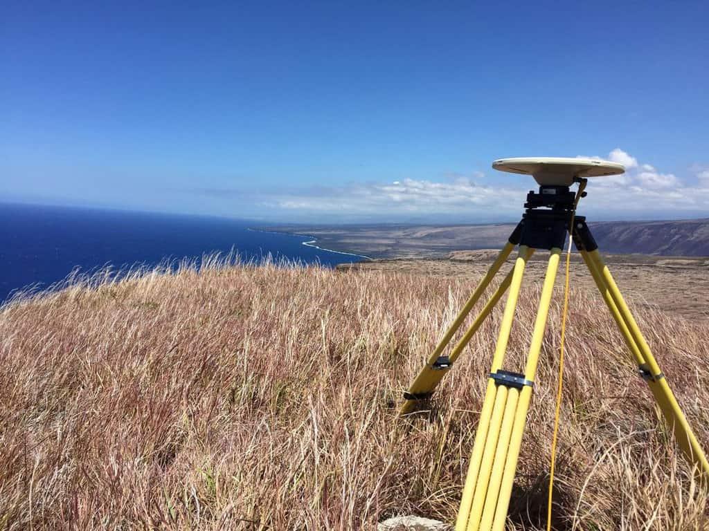 Campaign GPS antenna on Kīlauea's south flank at Pu'ukapukapu inside Hawai'i Volcanoes National Park.