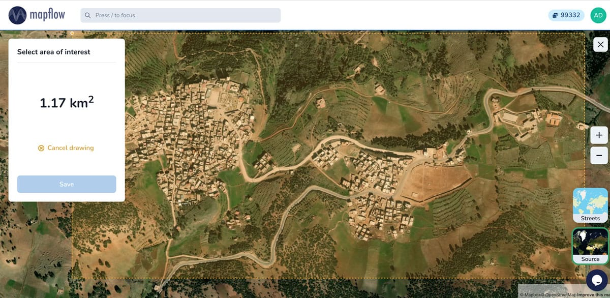A densely built-up area in Morocco.  Image: GeoAlert.