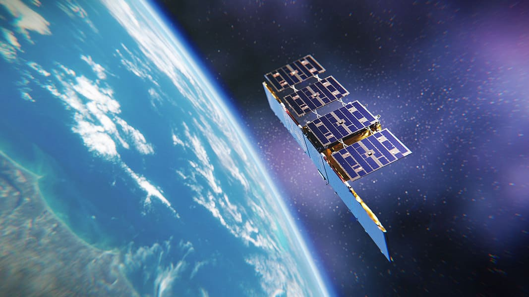 An artist's depiction of an ICEYE SAR microsatellite. Credit: ICEYE