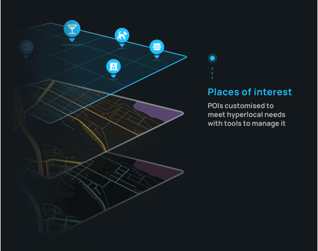 Image by NextBillion.ai. Base map overlaid with historical data generates business-contextual custom POIs.